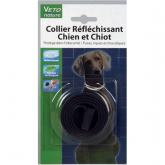Collar perro reflectante negro con extracto de margosa