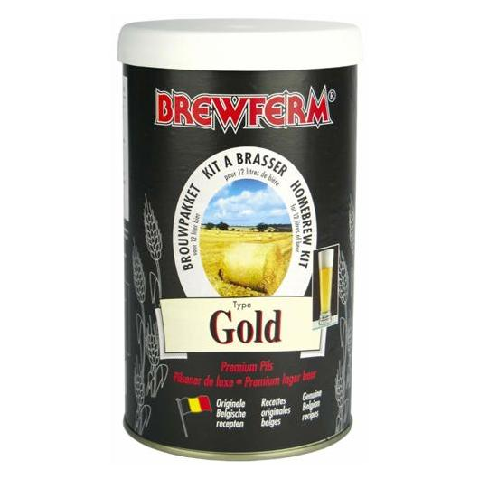 Kit de ingredientes Gold - Cerveza Dorada Brewferm