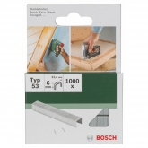 Pack de 1000 grapas Bosch para grapadoras 11.4 x 6 mm