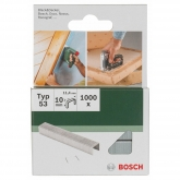 Pack de 1000 grapas Bosch para grapadoras 11.4 x 10 mm