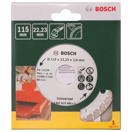 Disco de diamante universal Bosch Turbo Promoline 115 mm