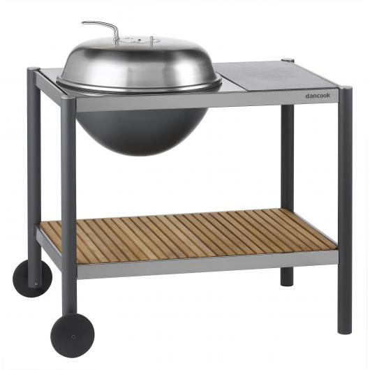 Barbacoa 1501 Kettle Ø54 con encimera y tablero de teka Dancook