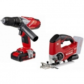 Kit Einhell Power X Change Taladro TE-CD 18-2 Li-i + Sierra de Calar TE-JS 18 Li