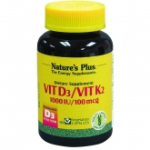 VITAMINA D3/ K2  Nature's Plus 90 cápsulas