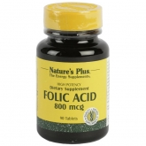 Acido folico Nature's Plus, 90 compresse