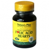 Folic acid hearts Nature's Plus, 90 comprimidos