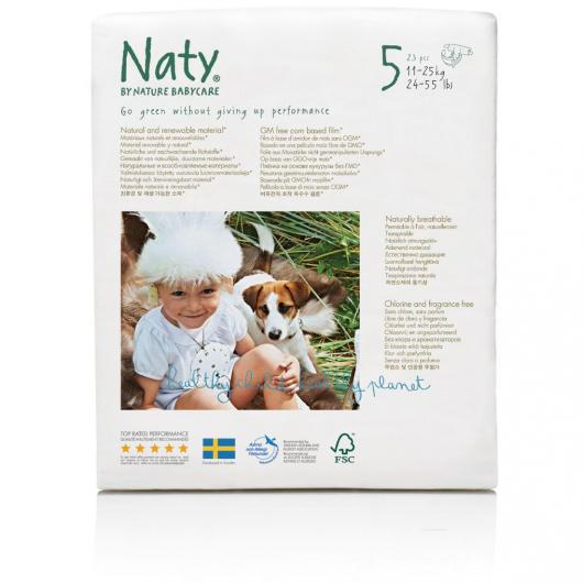 Couches n°5 Naty 11-25 kg, 23 pièces