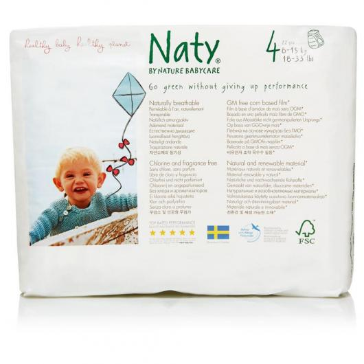 Pannolini monouso N.4 Naty 8-15 kg, 22 ud