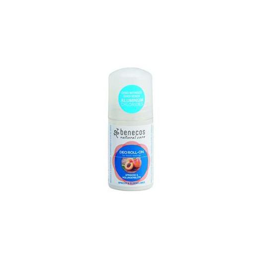 Desodorante roll-on Albaricoque y flor Sauco Benecos, 50ml