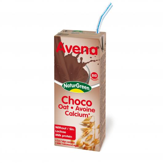 Bevanda di Avena Choco Calcio NaturGreen, 200 ml