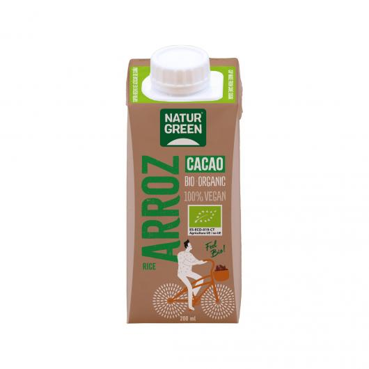Bevanda al Riso Choco Calcio NaturGreen, 200 ml