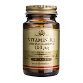 Vitamina K1 Fitomenadiona 100 μg Solgar, 100 comprimidos