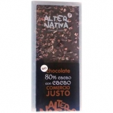 Chocolate 80% com Cacau BIO-FT, 100gr