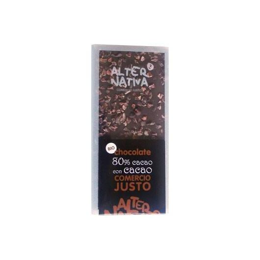 Chocolat 80% de cacao Alternativa, 100 g