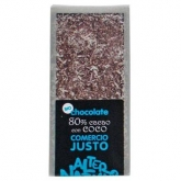 Chocolate 80% con Coco BIO-FT. 100gr