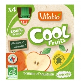 Potito Cool Fruits Manzana Vitabio, 4 x 90 g