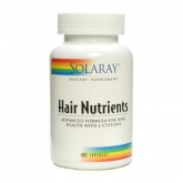 Hair Nutrients Solaray, 60 cápsulas