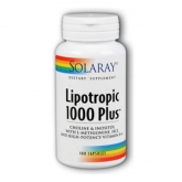 Lipotropic 1000 Plus Solaray, 100 cápsulas