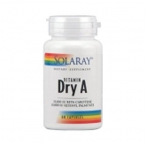 Vitamina A Emulsied Dry Solaray, 60 capsule