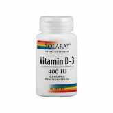 Vitamina D3 400 UI Solaray, 120 perle