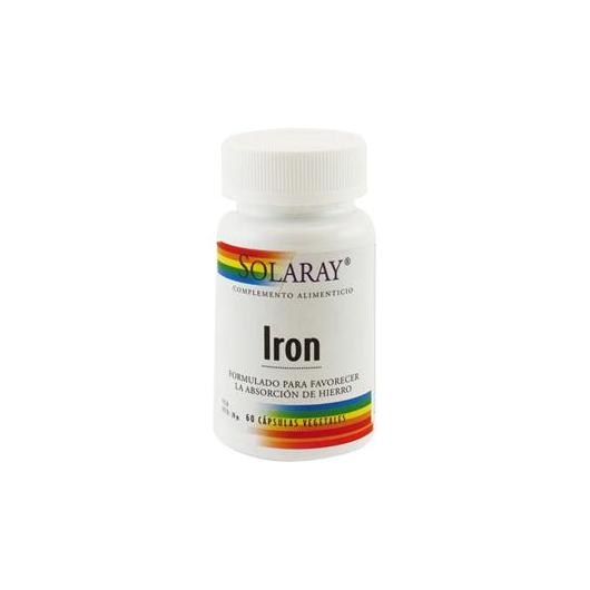 Iron citrato de hierro 25 mg Solaray, 60 cápsulas