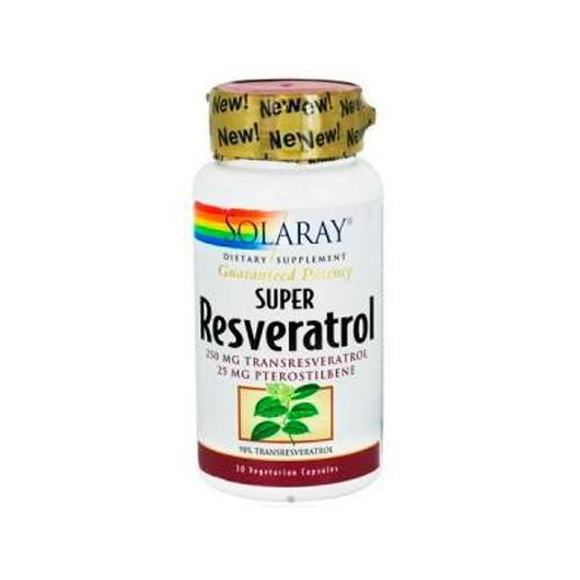 Super Resveratrol 250 mg Solaray, 30 capsule