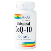 Ubiquinol CoQ-10 100 mg Solaray, 30 capsules