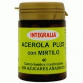 Acerola com mirtilo Plus Integralia, 40 comprimidos