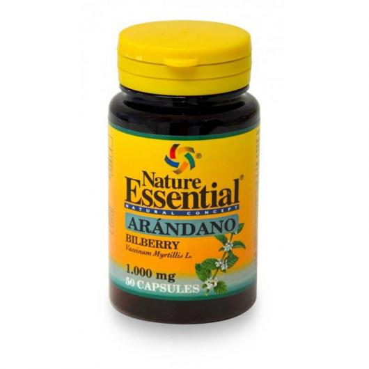 Arandano 1000 mg Nature Essential, 50 cápsulas