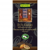 Tableta de Chocolate al 85% de Cacao Rapunzel, 80 g