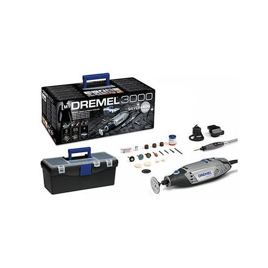 Kit Dremel 3000 Silver (55 accesorios + 3 complementos) F0133000LS