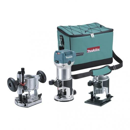 Fresadora multifunción Makita RT0700CX2 710 W 6 y 8 mm