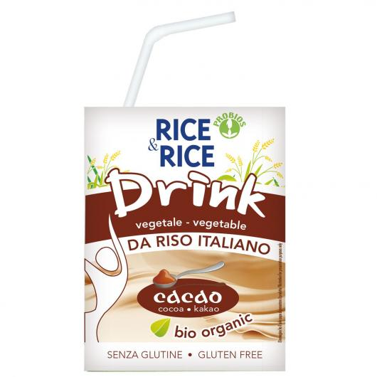 Bebida BIO arroz y chocolate Rice & Rice, 200 ml