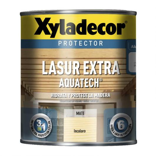 Protector Xyladecor Lasur Extra Aquatech INCOLORO 750 ml