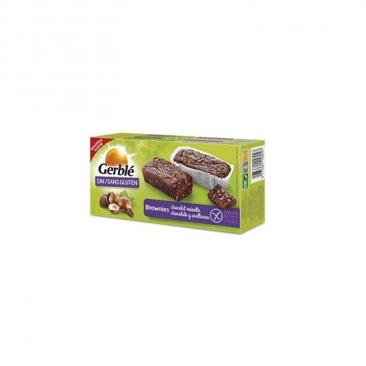 Brownie de chocolate y avellanas sin gluten Gerblé, 150 g