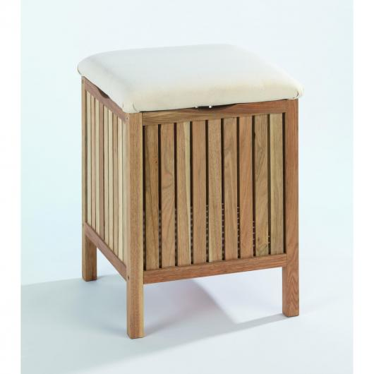 Cesto con asiento madera natural Norway