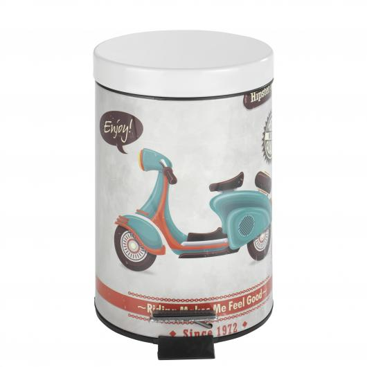 Cestino con pedale Vintage Scooter, 3 ltr