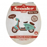Asiento Tapa WC Vintage Scooter,MDFMetal