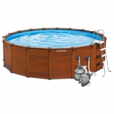 Set completo piscina Sequoia 478 x 124cm Intex