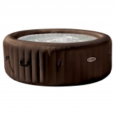 Spa redondo burbujas 196 x 71 cm marrón Intex