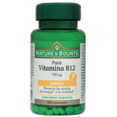 Vitamine B12 500 mcg pure Nature's  Bounty , 100 comprimés