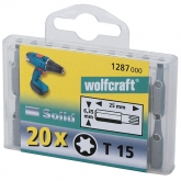 20 puntas Torx  TX 20 25mm Wolfcraft