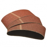Wolfcraft 5 bandes abrasives 75x533mm grain 40, 80, 120
