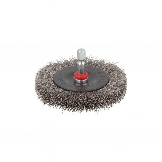 Wolfcraft 2711000 - 1 brosse inox circulaire