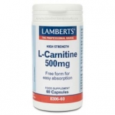 L-Carnitina 500 mg Lamberts, 60 compresse