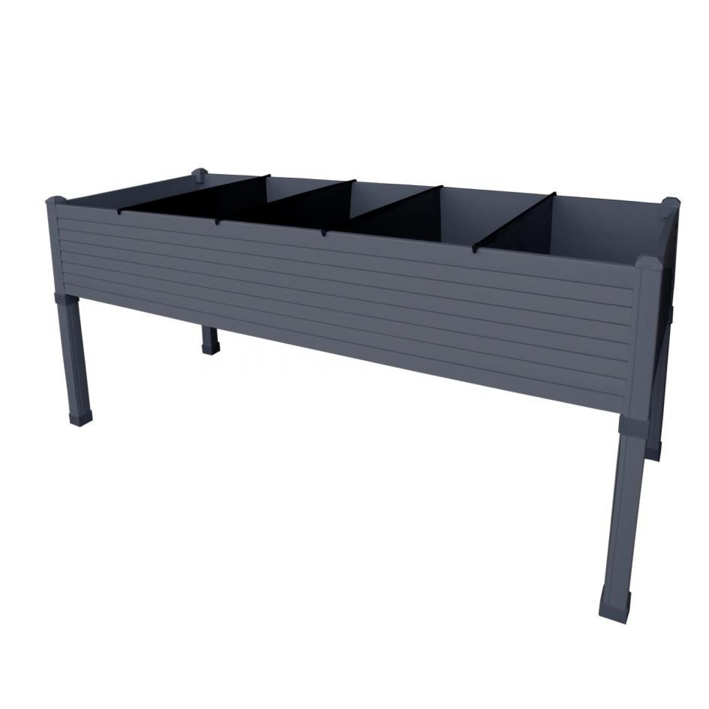 table de culture en plastique anthracite par 89 95 sur. Black Bedroom Furniture Sets. Home Design Ideas