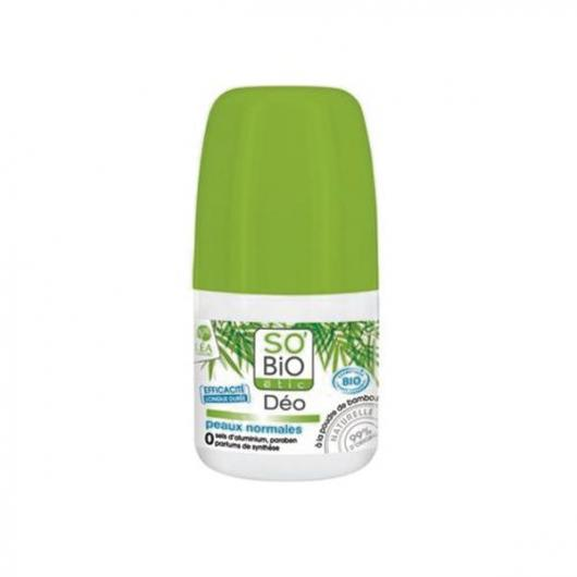 Deodorante Roll On Bamboo- Pelle normale SO'BIO étic 50 ml