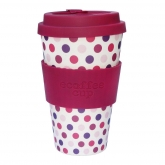 Vaso de Bambú Pink Polka ecoffee Alternativa3, 400 ml