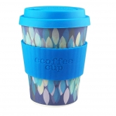 Vaso de Bambú Sakura Blue ecoffeee Alternativa3, 340 ml