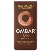 Chocolate Negro 72% Crudo Bio OMBAR 35 g